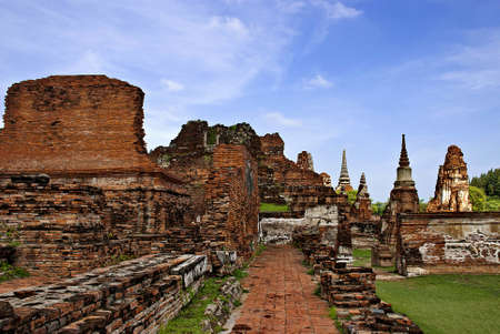 the city is ancient  the tourist attraction of Thailand Stock Photo
