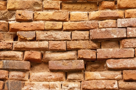 brick old wall  that deteriorate Stock Photo