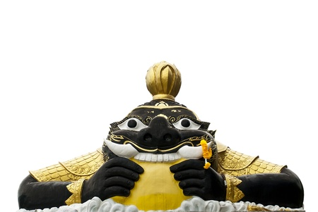 thaiart: holy thing in Thailand is a demon keep the moon Stock Photo