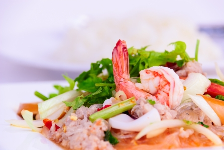mix the sea totals a food spicy of the asia people Stock Photo - 17348727