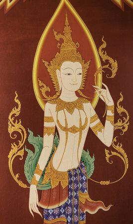 picture angel painting in the Thai art