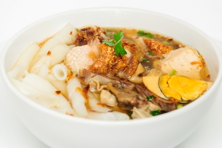 entrails pig noodles the food that Thai and Chinese like to eat