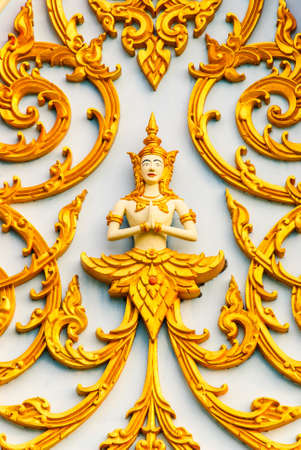 the work carves the design and image angel art Thai