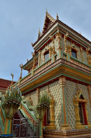 Thai church and the design carve in thailand