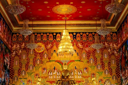 the image of Buddha and partition wall picture in thailand