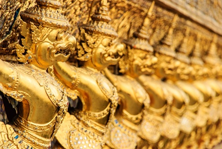 Thai art in beautiful temple has the noun that garuda Stock Photo