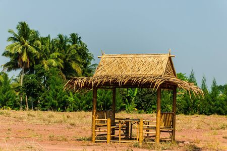 The hut for relax outdoor the countryside in thailand Stock Photo