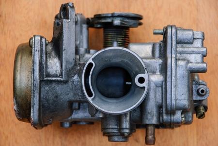 spare motor parts of motorcycle is preparing to repair