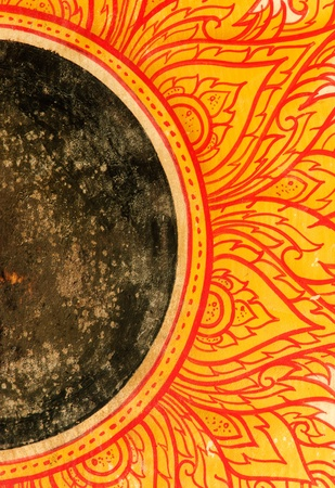 ancient drum with the design is thai style classic