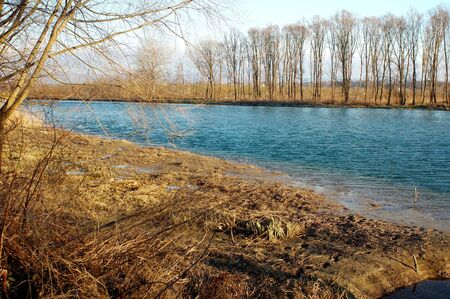 arno: Ponte Buriano: the Arno river Stock Photo