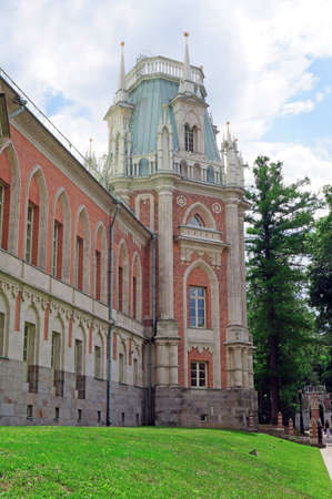 the tsaritsyno: Tower of the royal palace in Tsaritsyno in Moscow