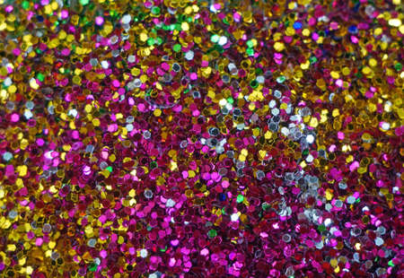 glittering: Small multicolored sequins as background