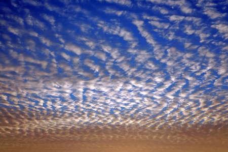 undulatus: Wavy-restless (Undulatus Asperatus) clouds during sunset