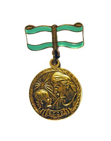 Médaille de la maternité degré 2st sur un fond blanc Éditoriale