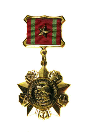 distinction: March 31, 2015: Medal For Distinction in Military Service» II degree on a white background