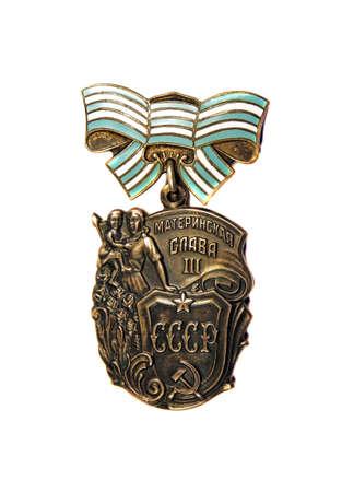 """31 mars 2015: """"Ordre de maternelle Glory"""" 3 er degré sur un fond blanc"""