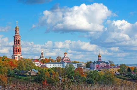Russian landscape: Orthodox church under the blue sky Reklamní fotografie