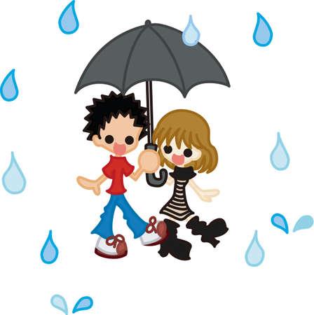 Rain Season Vektorové ilustrace