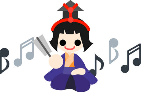 pray for: Japanese celebrate the Girls  Festival on March 3  It s the day to pray for healthy growth and happiness for young girls  This is the doll of musician singing