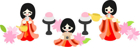 pray for: Japanese celebrate the Girls  Festival on March 3  It s the day to pray for healthy growth and happiness for young girls  These are the dolls of Three court ladies