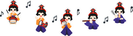 pray for: Japanese celebrate the Girls  Festival on March 3  It s the day to pray for healthy growth and happiness for young girls  These are the dolls of Five musicians