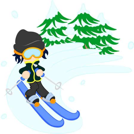 lightly: The man who slips on the ski lightly