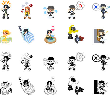 memos: The people icon which is usable in message memos Illustration