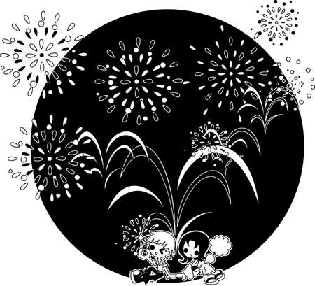 midsummer: The night of the midsummer when big fireworks are whirled up. Let  's enjoy to see the fireworks with lovers.