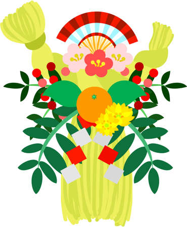 festoon: It is the illustration of the New Year festoon made of sacred straw which are usable in celebration of the New Year.