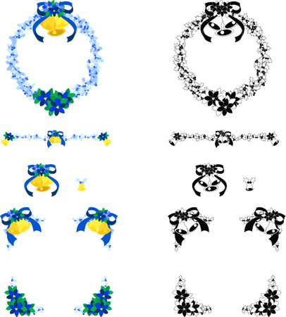 christmas motif: The graphics in the motif of Christmas. Illustration