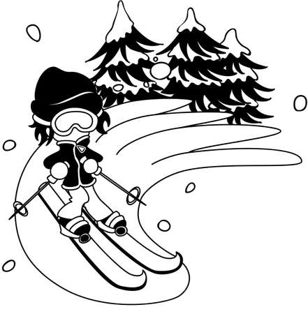 lightly: The man who slips on the ski lightly. Illustration