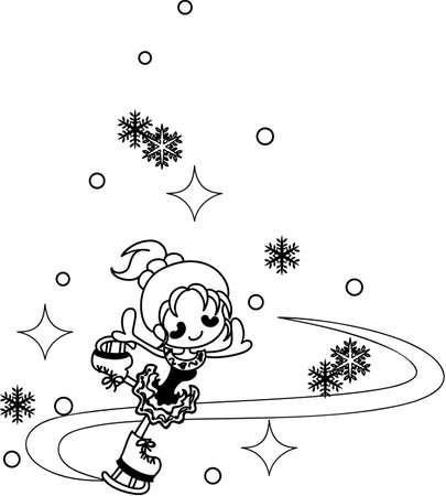 elegantly: The figure skater who dances elegantly. Illustration