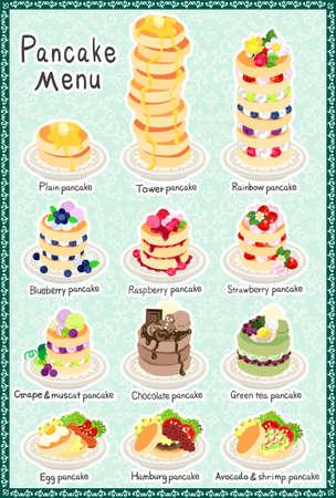 plain postcards: The postcard of various pancakes