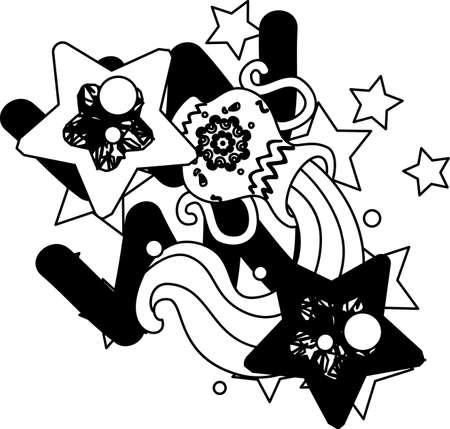 reflecting: Illustration reflecting the image of Aquarius of the horoscope. Illustration