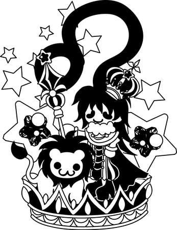 Illustration reflecting the image of Leo of the horoscope.