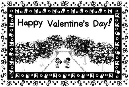 boulevard: Greeting card of Valentines Day-Declaration of love-