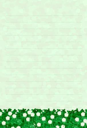 postcard: Postcard imaged the white clover