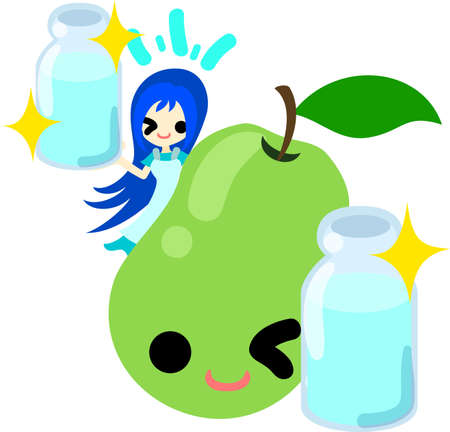 provide: A girl and the pear which provide water