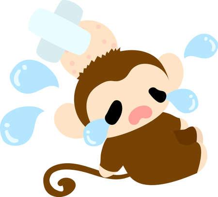 lump: Pretty monkey of the big bump