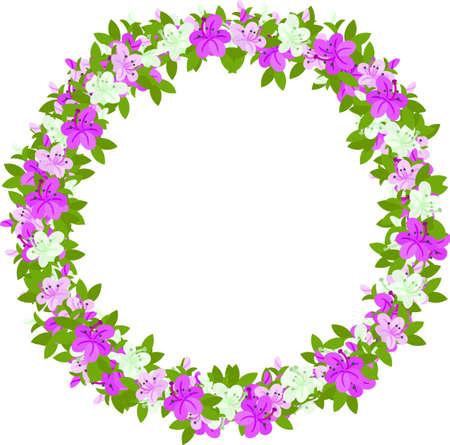 azalea: Wreath of flowers of azalea which imaged spring