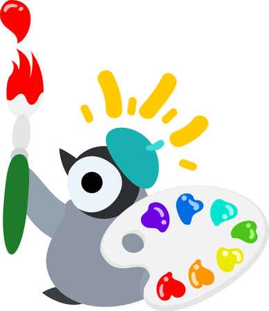 Eine hübsche Pinguinbaby und Farbe und Palette