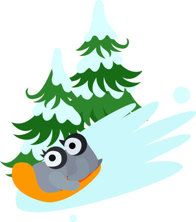 sled: The pretty baby penguin which gets on the sled