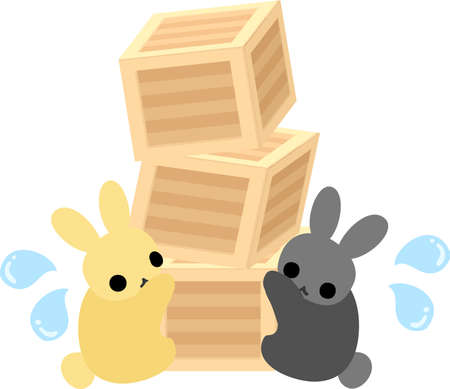 big boxes: Pretty rabbits with a lot of big boxes