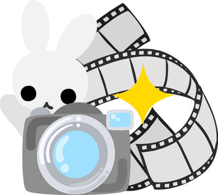 personification: The rabbit which does the figure of the photographer