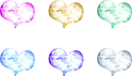 crystal heart: The heart shaped crystal icons