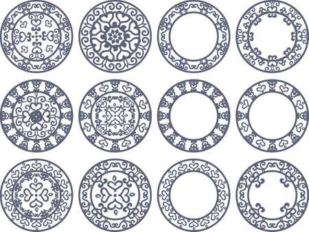 Mysteus デザインの丸いアイコン
