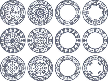 mysterious: Round icons of a mysterious design