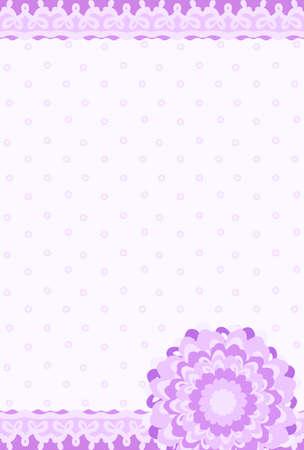 reflecting: Stylish postcard reflecting the image of flower and lace Illustration