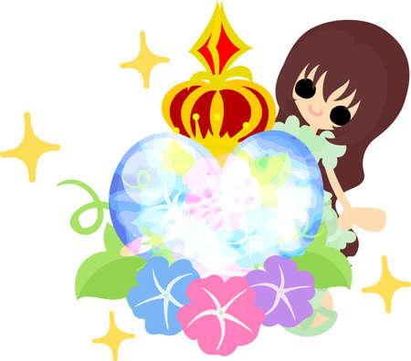 glory: A cute girl and a perfume of morning glory