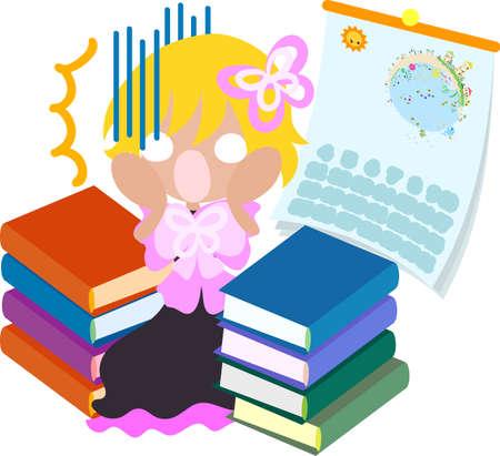 homework: Summer memories and lots of homework Illustration